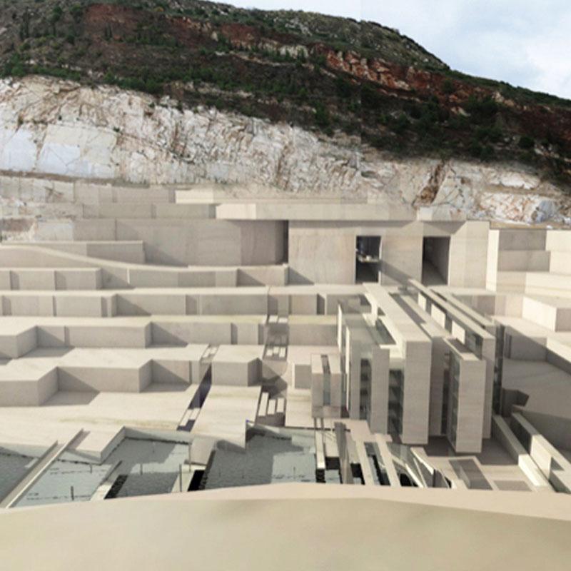 Exhibition-Center-In-Dionysos-Quarry